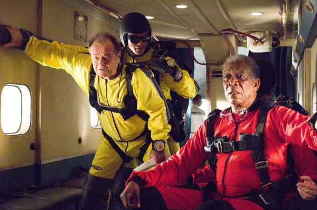 """JACK NICHOLSON stars as Edward and MORGAN FREEMAN stars as Carter in Warner Bros. Pictures' comedy drama """"The Bucket List."""" PHOTOGRAPHS TO BE USED SOLELY FOR ADVERTISING, PROMOTION, PUBLICITY OR REVIEWS OF THIS SPECIFIC MOTION PICTURE AND TO REMAIN THE PROPERTY OF THE STUDIO. NOT FOR SALE OR REDISTRIBUTION."""
