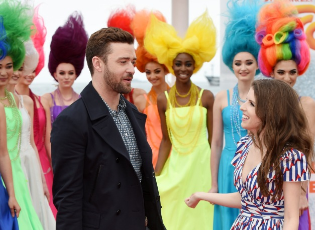Mandatory Credit: Photo by David Fisher/REX/Shutterstock (5682110i) Justin Timberlake and Anna Kendrick 'Trolls' photocall, 69th Cannes Film Festival, France - 11 May 2016